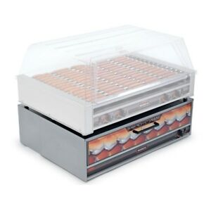 New Nemco Hot Dog Bun Warmer 8045w Fits Roller Grill Model 8045w bw 220 64 Bun