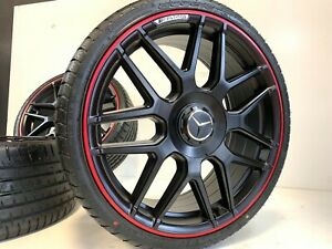 4 Set Of Brand New S550 Style 19 Amg S63 Rims Wheels Mercedes Benz Redline Ed
