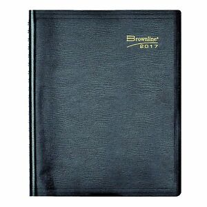 Brownline 2017 Daily Planner Twin wire Black 11 X 8 50 Inch 2 Day Shipping