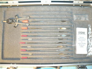 Storz Behrbohm Set Of 10 Osteotomes Rasps With Caliper N486000