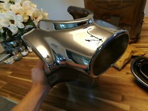 1956 Cadillac Nos Rear Bumper End Brand New Exhaust Port With Hardware