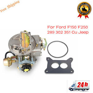 Two 2 Barrel Carburetor Carb 2100 For Ford F150 F250 289 302cu 351cu Jeep Engine