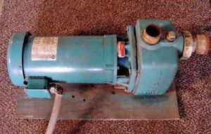 Burks Industrial Water Pump 24 With 3hp Electric Motor