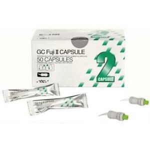 2 X Gc Fuji Ii 50 Capsules Glass Ionomer Luting Cement