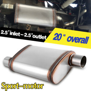 Straight through Perforated Offset 2 5 Inlet Outlet High Performance Muffler