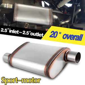 Offset 2 5 Inlet Outlet Muffler Straight through Perforated High Performance