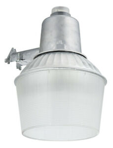 Lithonia Metal Halide Area Light Dusk To Dawn 100 W 12 In Acrylic Clear