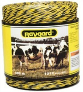 Baygard 00122 Electric Fence Yellow Black Pollywire 1312 Ft