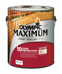 Olympic Maximum Deck Fence And Siding Stain Latex Base 2 Solid 1 Gl Pack Of 4