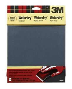 3m Wp Silicon Carbide S paper Assortment Extra Very Fine 9 X 11 pk 10