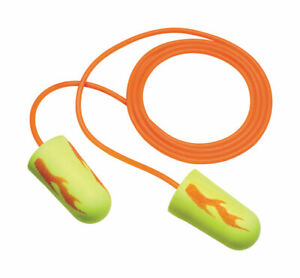 3m Corded Ear Plugs Corded Box Of 200 Yellow