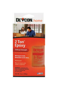 Devcon 2 ton Epoxy Wood Concrete Ceramic Crystal Clear Bottle Carded 4 1 2 Oz