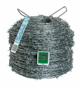Deacero 12 Ga 1320 Ft L 4 point Galvanized Steel Barbed Wire Between Barbs