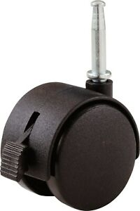 Shepherd 9578 2 Twin Wheel Caster With Stem And Brake
