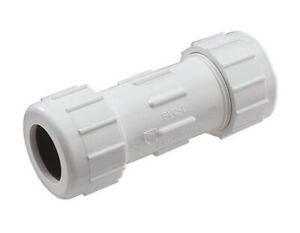 Kbi Compression Coupling Sch 40 Pvc 4 Ips 150 Psi Pvc Rubber Pack 1