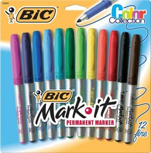 Bic Gpmap12 ast Mark it Permanent Marker Color Collection 12 Count Pk 6