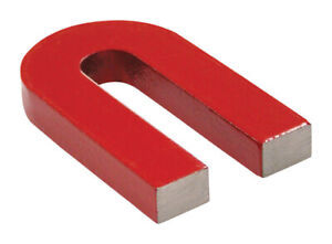 Master Magnetics 07225 Alnico Red Horseshoe Magnet 2 H In With Keeper