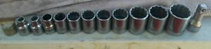 13 Pc Williams 12 Point 1 2 Drive Assorted Sockets And Extension Sz 1 1 4 Down