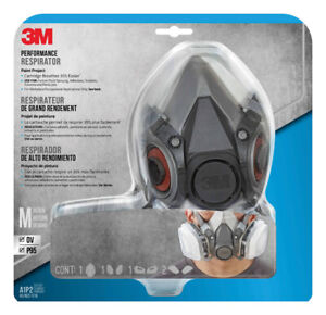 3m Paint Spray And Pesticide Application Half Face Respirator Gray 9 Pc