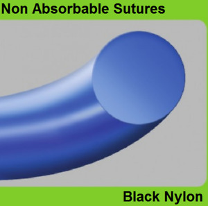 24pcs Ailee Non Absorbable Sutures Black Nylon
