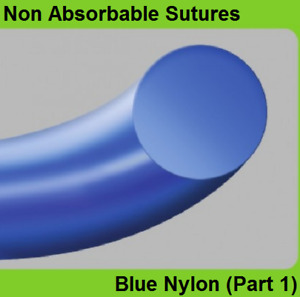 24pcs Ailee Non Absorbable Sutures Blue Nylon part 1