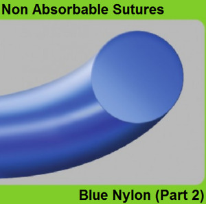 24pcs Ailee Non Absorbable Sutures Blue Nylon part 2