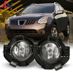 For Nissan Rogue 08 10 Clear Lens Pair Oe Fog Light Lamp wiring switch Kit Dot