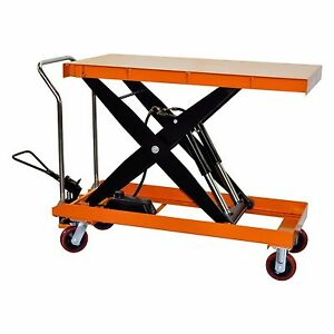 Bolton Tools Hydraulic Scissor Lift Table Cart 2200 Lbs Tf100d