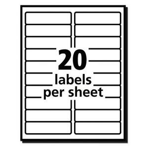 20 Sheets 400 Blank Return Address Labels 4 X 1 Free Shipping