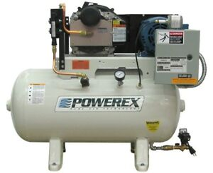 Used Powerex Sts0502 Scroll Type Air Compressor Oil less Design 60 Gallon Tank