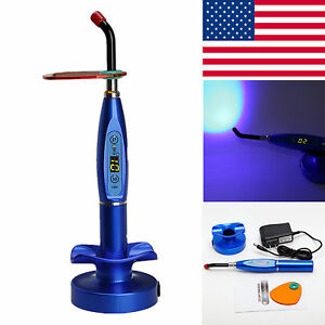 Usa Dental Wireless Cordless Led Curing Light Cure Lamp Dentist Blue Vlv7j