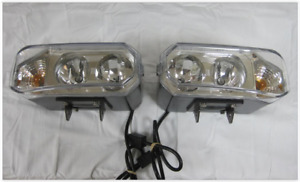 New Design Super Bright Hiniker Quad Halogen Snow Plow Lights W Turn Signals