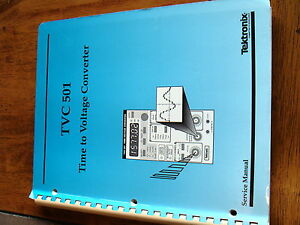 Tektronix Tvc501 Time To Voltage Converter Plug In Module Service Manual