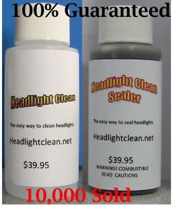 Headlight Lens Restoration System Repair Kit Car Plastic Light Polishing Cleaner