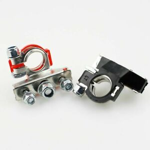 Battery Terminal Secure Connector Cables Clamp Clips Positive Negative Van Truck
