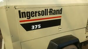 Ingersoll Rand Air Compressor Decals 375cfm
