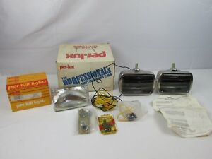 Vintage Per Lux Louvered Fog Driving Lights Kit Model 600 R Classic By Grote Nos
