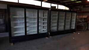 Commercial Freezer 8 Door Glass Door Display Case With Condensing Unit