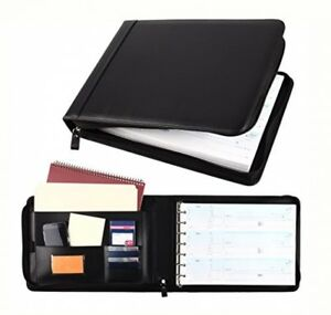 Business Check 7 Ring Binder For 3 up Checks Pu Leather Portfolio Checkbook