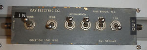 Kay Electric Manual Variable Signal Input 50ohm Attenuator Up To 41db