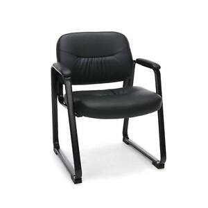 Leather Office Chair Executive Computer Desk Black Ergonomic Conference Room New