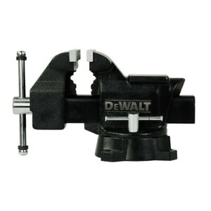 Dewalt 5 In Heavy Duty Workshop Bench Vise With Swivel Base Dxcmwsv5 New
