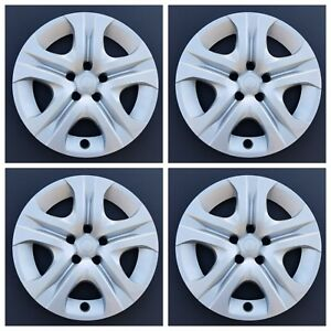 New Wheel Covers Fits 2013 2018 Toyota Rav4 17 Silver Black 5 Spoke Set Of 4