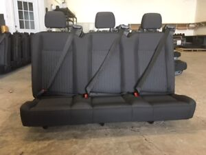 Ford Transit Oem Seat Charcoal Cloth 55 Triple Seat W hardware Universal