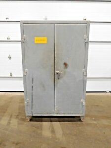 Mo 2238 Stronghold Metal Cabinet W Locker Style 7 Shelves 78 T 48 W
