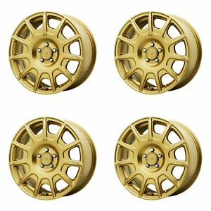 4x Motegi 15 Mr139 Wheels Rally Gold 15x7 5x100 Pcd 15mm Offset 4 59 bs