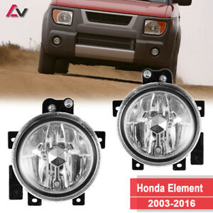 For Honda Element 03 06 Clear Lens Pair Bumper Fog Light Lamp Oe Replacement Dot