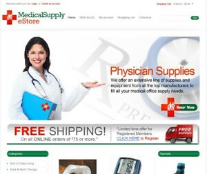 Medical Products Turnkey Website For Sale Established Domain Website