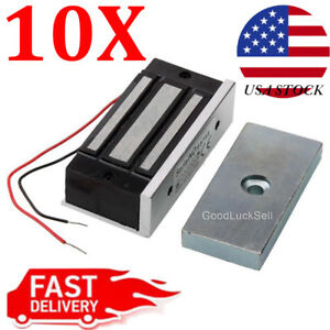 10x Electromagnetic Magnetic Door Lock 60kg Holding Force Access Control 12v