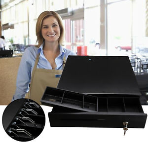 Cash Register Drawer Box With Money Tray Coin Drawer Push Button Pos Printers